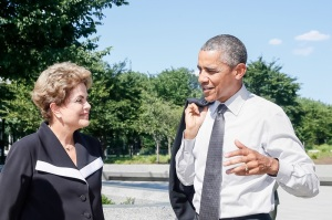 Washington - EUA, 29/06/2015. Presidenta Dilma Rousseff acompanhada do  Presidente dos Estados Unidos da América, Barack Obama visitam o memorial de Martin Luther King. Foto: Roberto Stuckert Filho/PR