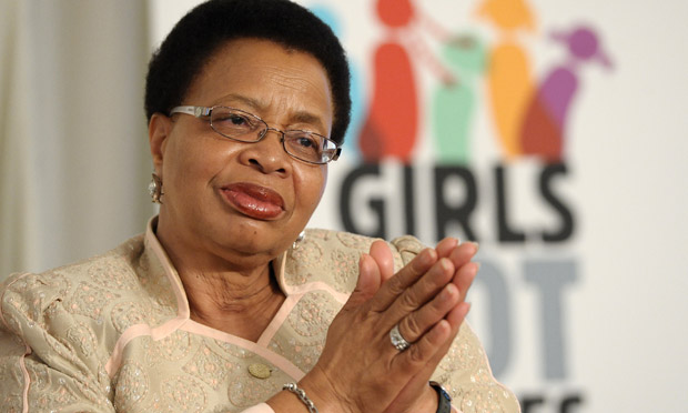 Graça Machel, wife of Nelson Mandela, in 2012