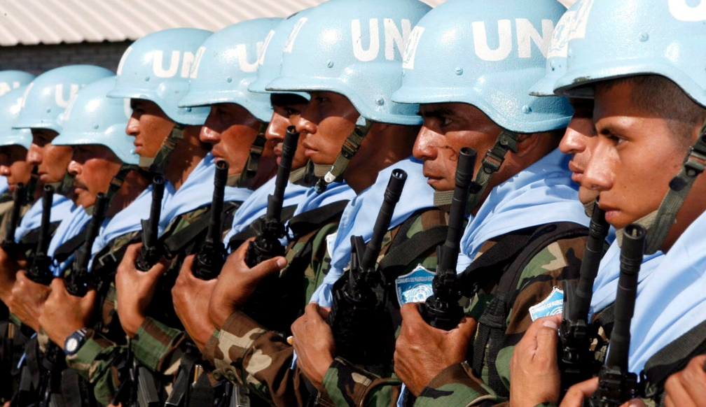 Salvadorean United Nations Peace-keeping soldiers depart for Lebanon