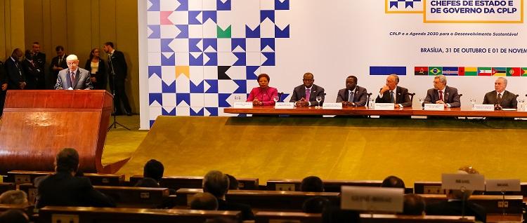 Brasília - DF, 01/11/2016. Presidente Michel Temer durante  Sessão Solene de Encerramento da XI Conferência de Chefes de Estado e de Governo da Comunidade dos Países de Língua Portuguesa. Foto: Marcos Corrêa/PR