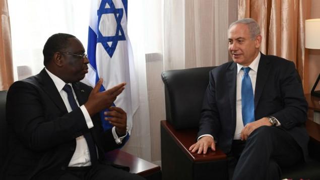 Benjamin Netanyahu, e o Presidente do Senegal