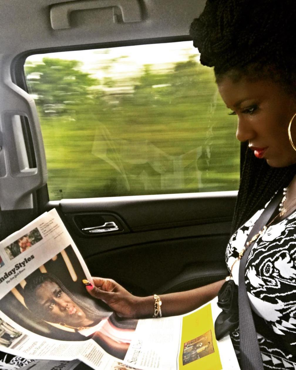 Gazing at the goodness of God as I read my cover story article in the Sunday style section of the @nytimes on my way to church this Sunday morning... and I feel like testifying! 🙌🏿 Listen here... my journey has had its share of ups and downs, but what I know for certain is that the adage is true-- the Will of God will never take you where the Grace of God can not keep you.  So this morning I give thanks knowing that my steps are divinely ordered... so get out of my way! I'm coming for what is mine! AMEN?? I'm also giving thanks for my 15,000 @uber colleagues who are doing an amazing job of evolving the company and our service. Teamwork makes the dreamwork... AMEN?? Last but certainly not least, I'm thankful for the incredible talent of @sheilaym who has told my story so well (link in bio) #thankfulheart #SundaySermon #blackgirlmagic
