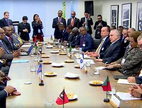 cplp e o presidente do brasil 19 de set de 2017