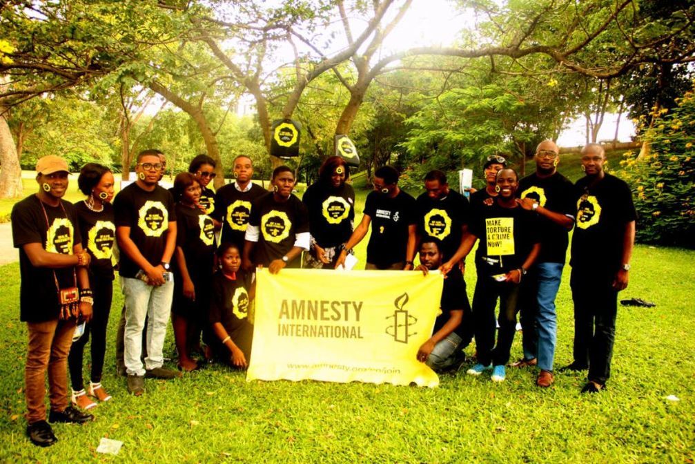 Amnesty International members and supporters take action on the International Day in Support of Victims of Torture