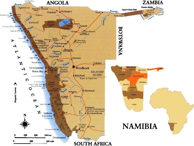 Map Namibia