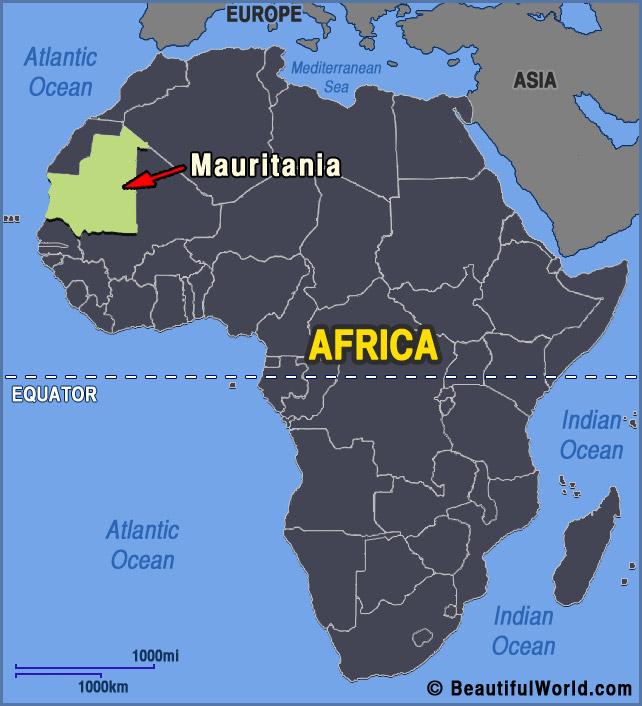 mauritania-africa-map
