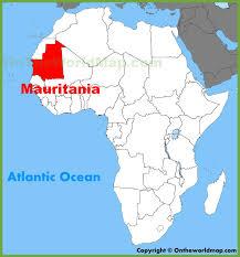 mauritania map na africa