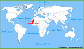 mauritania no mapa