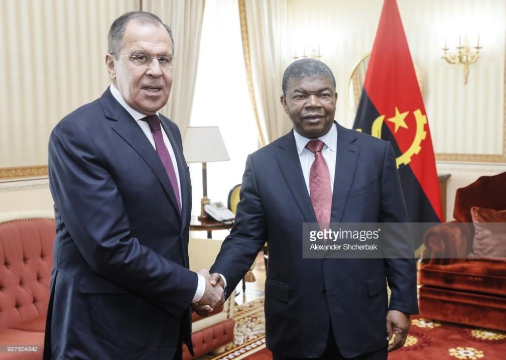 Serguei Lavrov, e joão lçourenço
